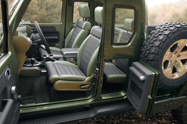 jeep gladiator pickup truck concept interior