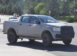 2020 Ford Ranger Raptor spy shots