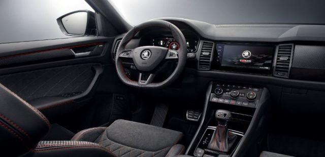 Skoda Kodiaq Pickup RS interior