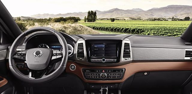 2020 Ssangyong Musso Grand interior