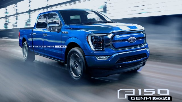 2022 Ford F-150 Electric Rendered