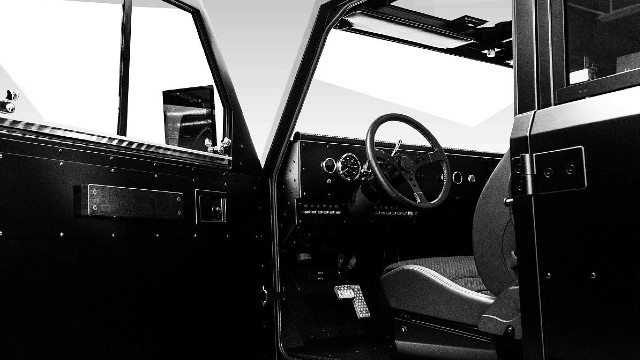 2021 Bollinger B2 Chassis Cab interior