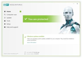 ESET NOD32 Antivirus full Crack + Serial Key Free Dowonload 2018
