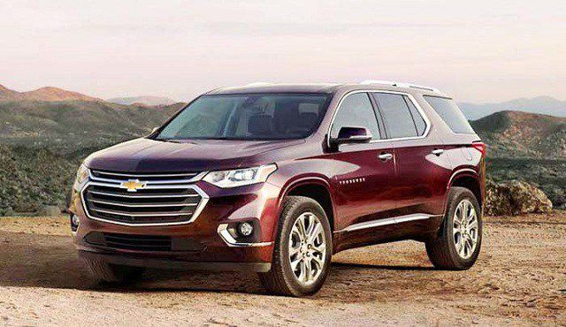 2019 Chevy Traverse front