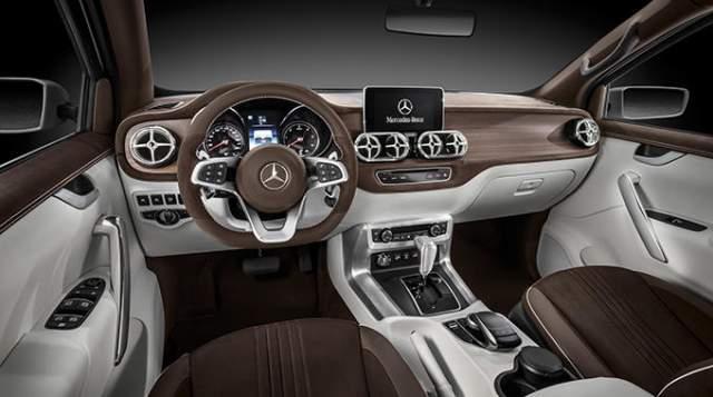 2018 Mercedes-Benz X-Class Pickup interior