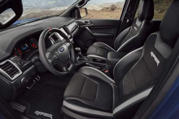 2019 Ranger Raptor interior
