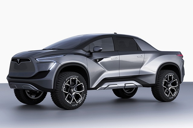 2020 Tesla Electric Pickup Truck concept