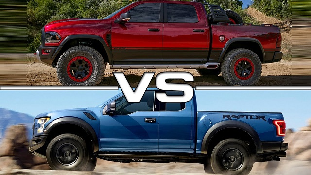 2021 Ford F-150 Raptor V8 VS 2021 RAM Rebel TRX