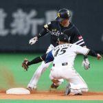 【野球】ソフトバンク・周東が止まらない「気になる」西川の前で今季40個目の盗塁成功  89試合.272 1本 23打点 40盗塁  [砂漠のマスカレード★]