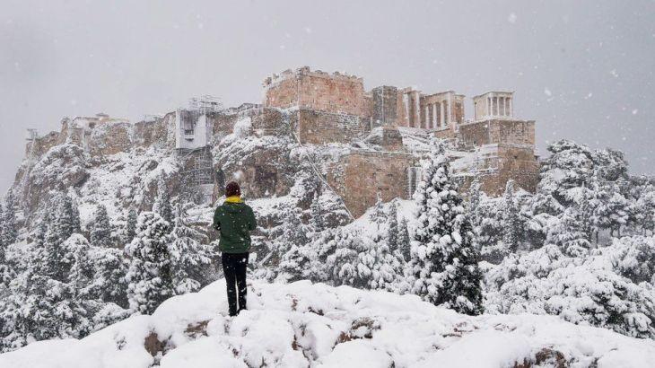 ギリシャで大雪