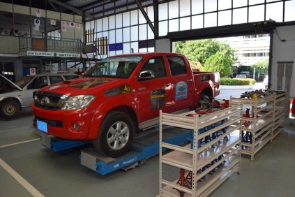 Learning by doing - Toyota has cooperated with the LGTC since 2006 and trains students on Toyota automobiles