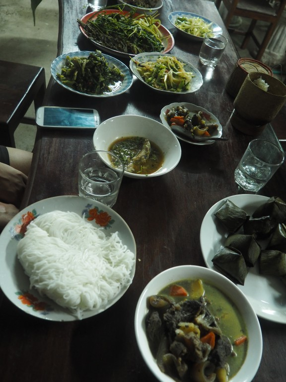 Laotian food - dinner at Toukham's place