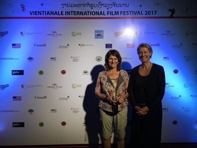 Isabel Martin and Angela Bauer-Seekings at the Vientianale in March 2017