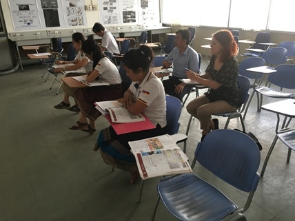 Technical English class at the LGTC