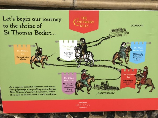 Interactive museum - medieval sights, noises, smells -about the Canterbury Tales