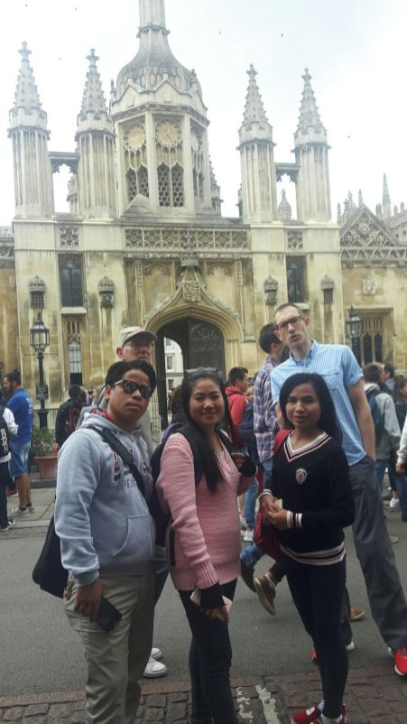 Mittaphone, Donekeo and me in Cambridge