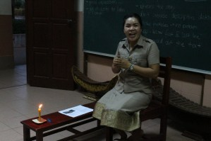 """Ms Bounpheng tell the story """"The Noisy House"""""""