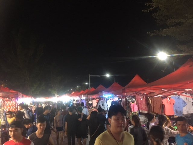 Night market in Vientiane