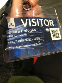 ...received our visitors' passes...