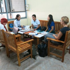 Dilara, Ms Akina, Ms Viengkhom, Ms Moukdala and Niole during our first official meeting