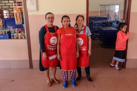 Ms Soutsada Nanthavongdouangsy and her helping hands