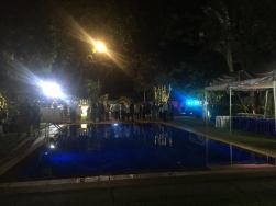 The pool area on the compound of the German Embassy