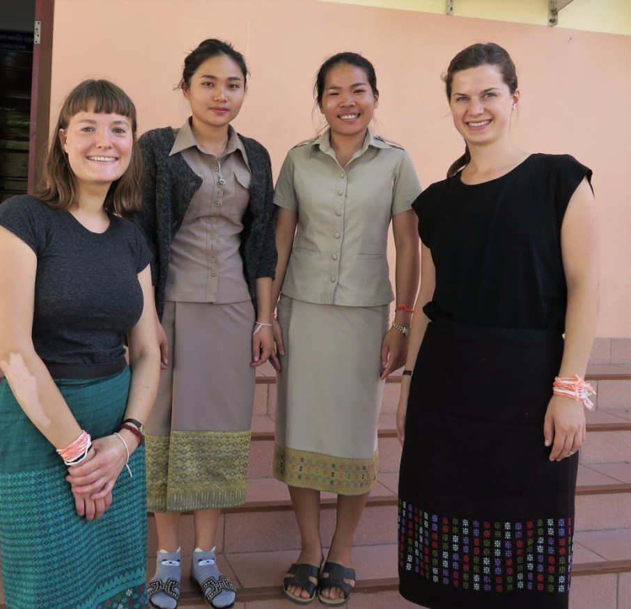 Marleen Linder, Ms Khamsee Thanbounheuang, Ms Saysamone Singhalath & Natalie Wickmann after the interview