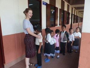 """""""Teacher Cornelia"""" with one of her Mopsy groups..."""