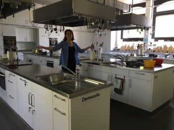 ... teaching kitchen...