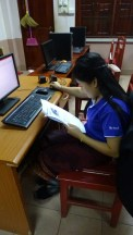 Ms Nalee Vongkhamsay constructs a worksheet for her next class.