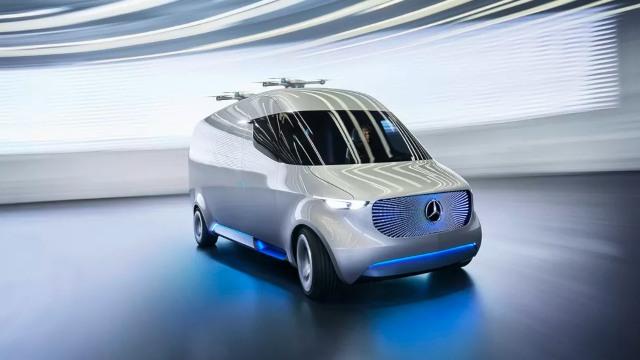 2021 mercedesbenz vision – hightech luxury van  2020