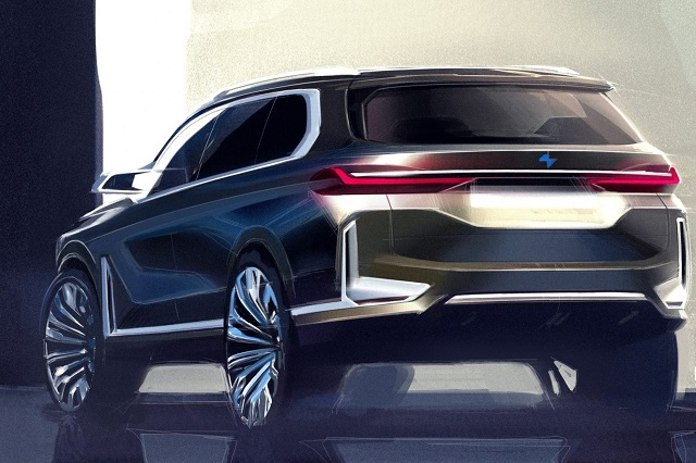 2019 BMW X8 rear view