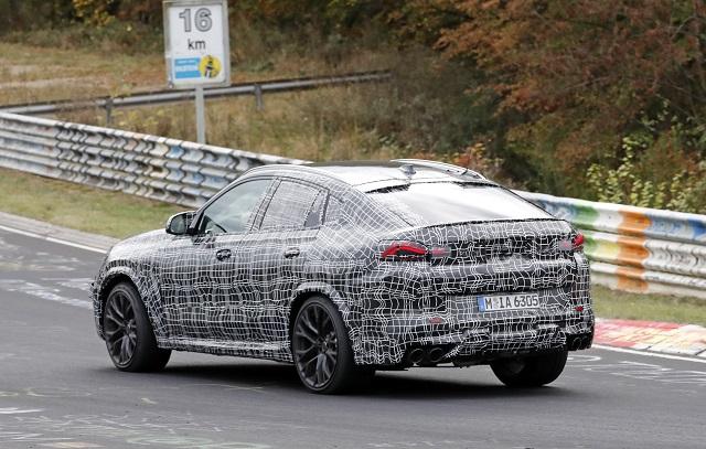 2020 BMW X6 rear view
