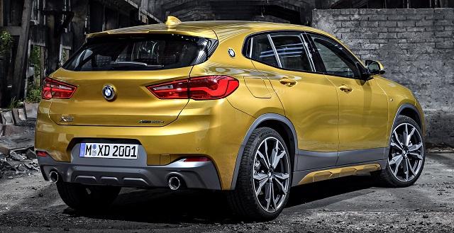 2020 BMW X2 rear view