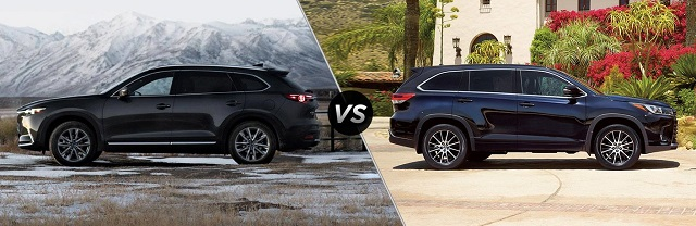 2020 Mazda CX-9 vs toyota highlander