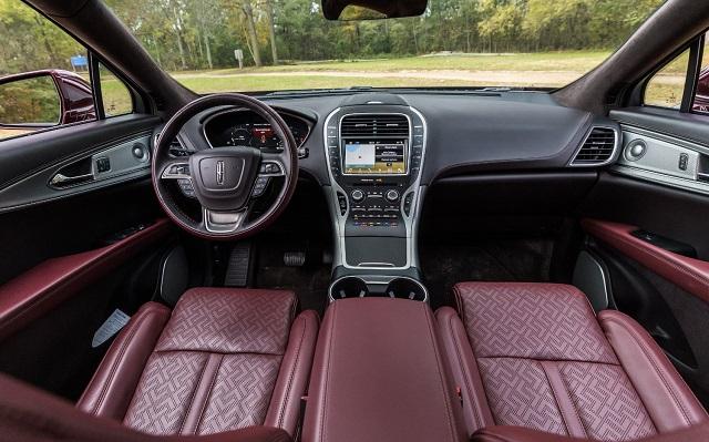 2021 Lincoln Nautilus black label interior