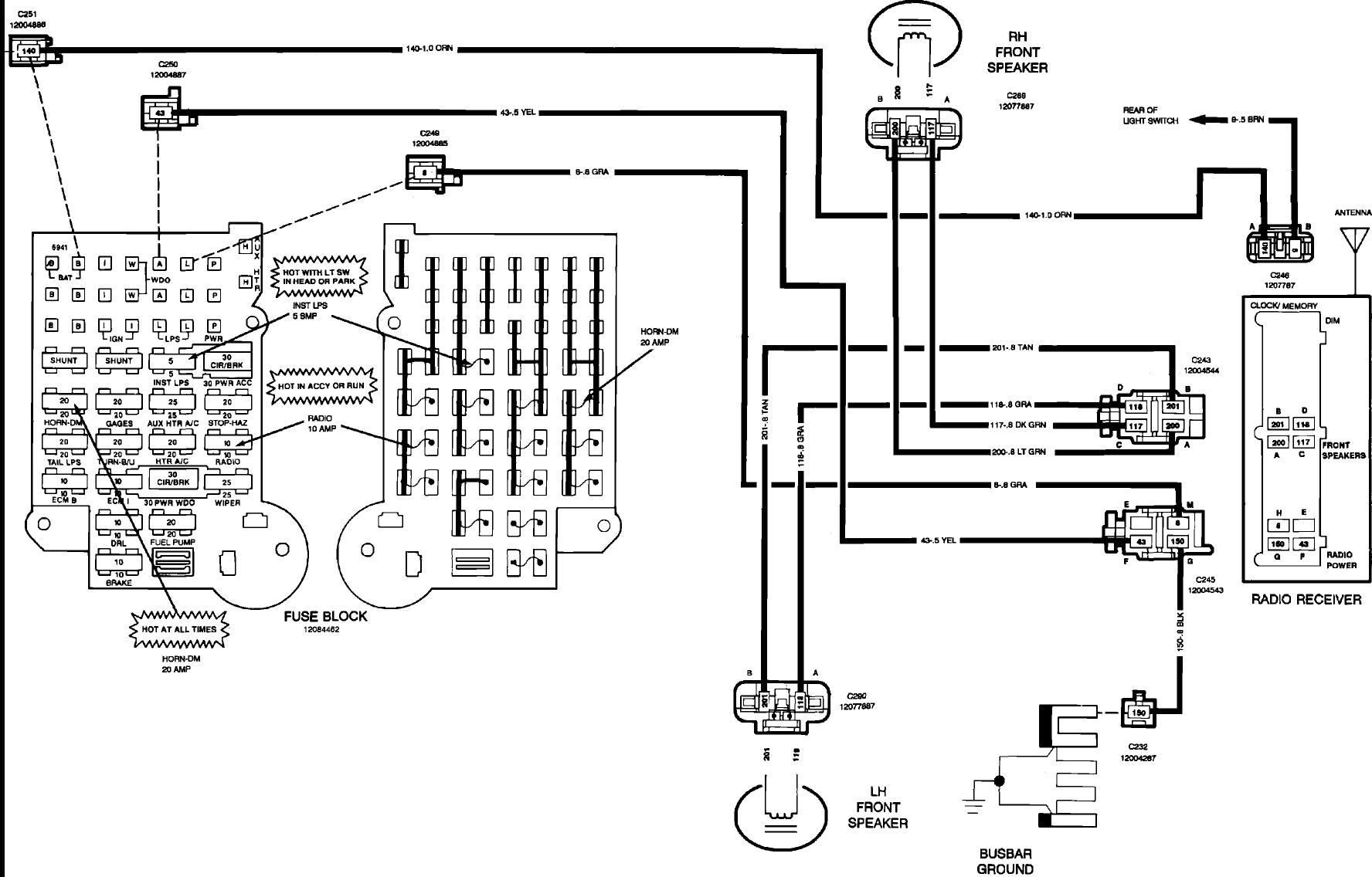 Chevy Cargo Van Fuse Box Diagram