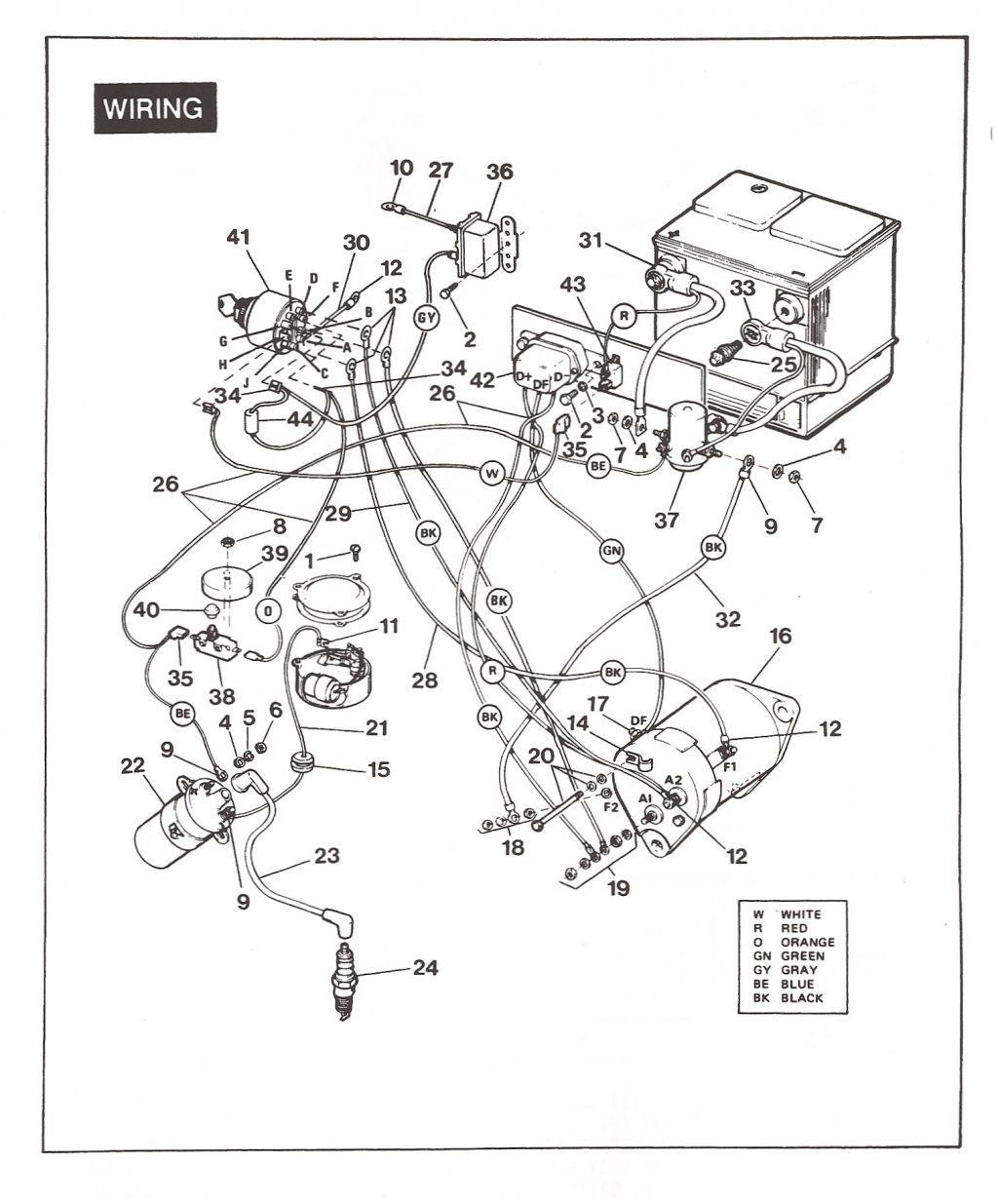 Ez Go Golf Cart Wiring Diagram