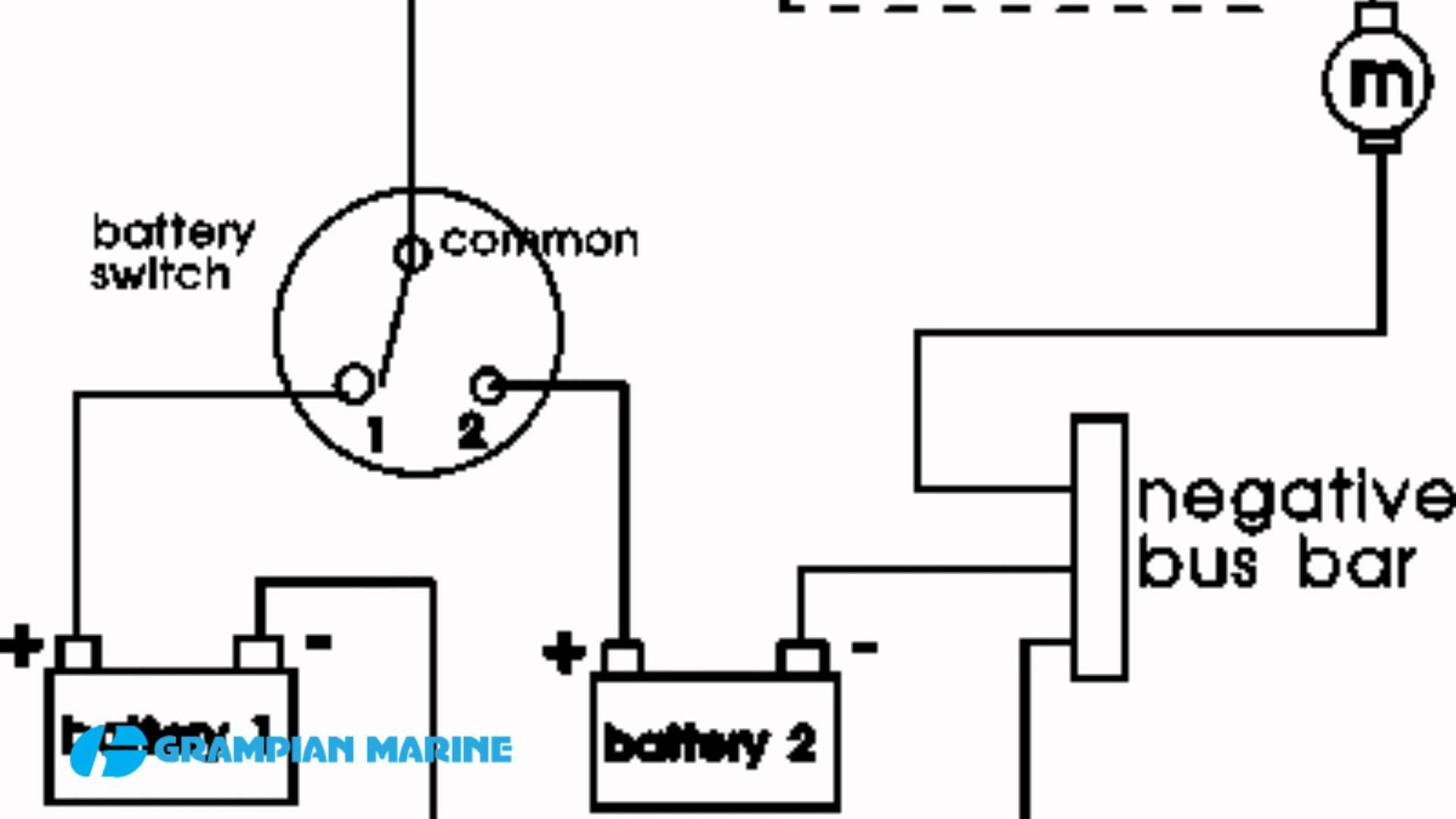 3 Position Marine Battery Switch Wiring Diagram
