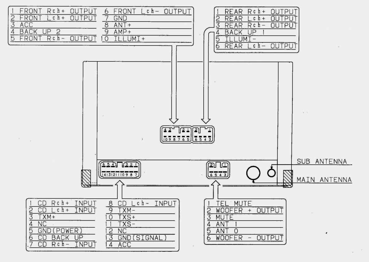 Pioneer 16 Pin Wiring Harness Schematic