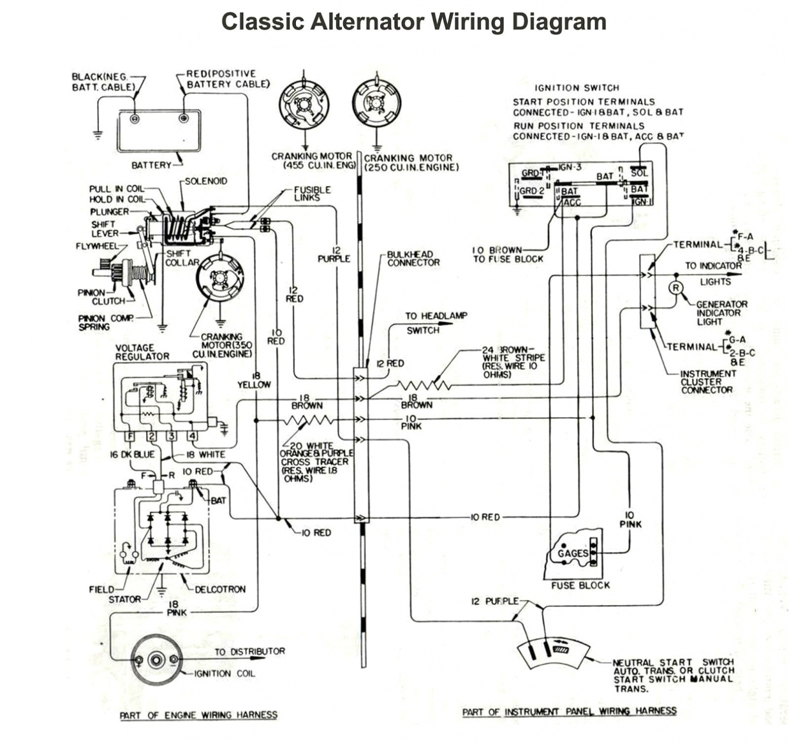 Gm Alternator Wiring Diagram Internal Regulator New Fresh