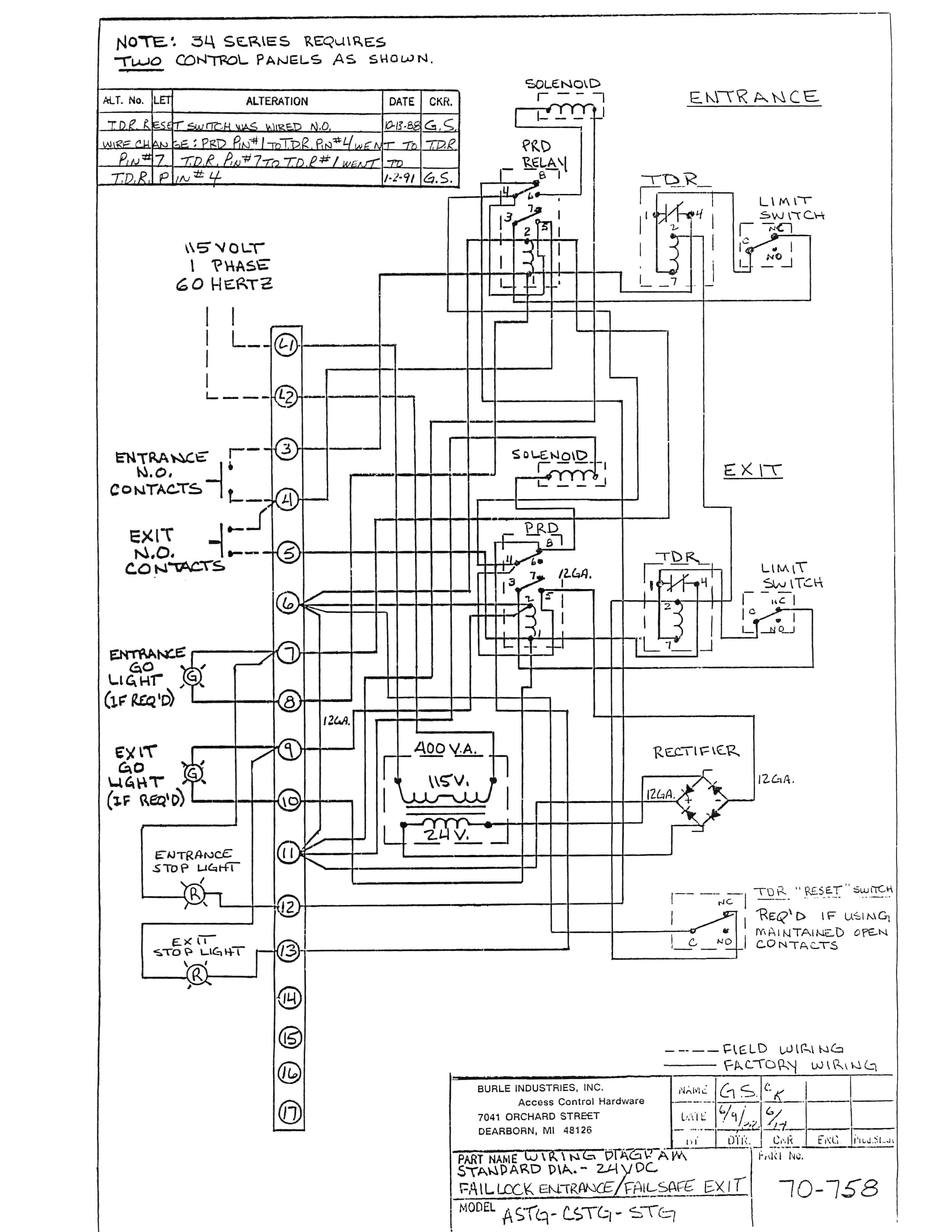 Trane Rooftop Unit Wiring Diagram