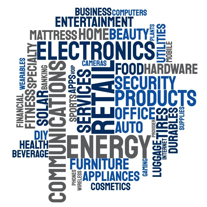 A word cloud of all the areas of expertise that 2020 Companies excels in.
