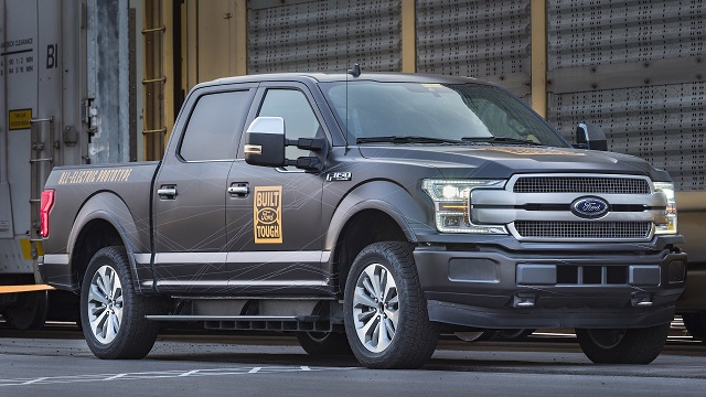 2021 Ford F-150 Full Electric Test Mule