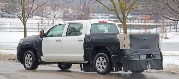 2022 Toyota Tundra Spy Shot Rear Suspension