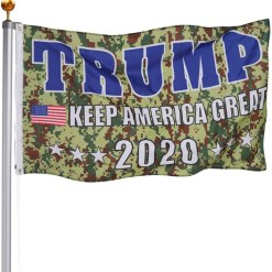 TOPFLAGS Trump Keep America Great Camo Flag - 3x5 Outdoor with Grommets for 2020 Donald Trump Election Flags