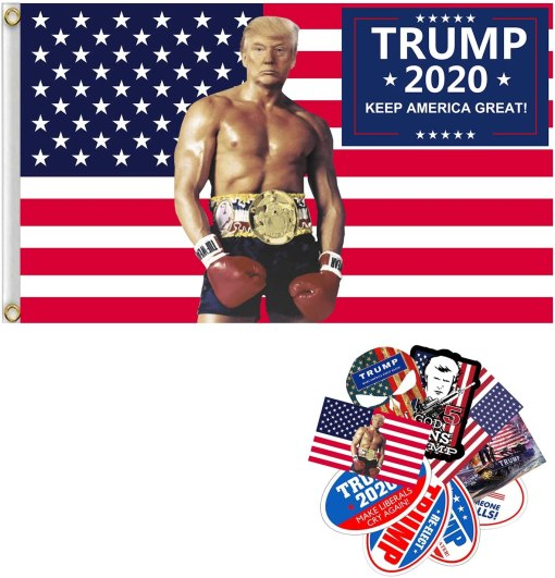 MAYFERTE Donald Trump for President 2020 Flag Keep America Great MAGA 3x5 Feet Flags Double Sided Outdoor Banner with Grommets for Garden House Home Decor