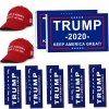 Donald Trump Flag 2020 Trump Make America Great Again Hat and Keep America Great Bumper Stickers Car for Supporting President Trump-