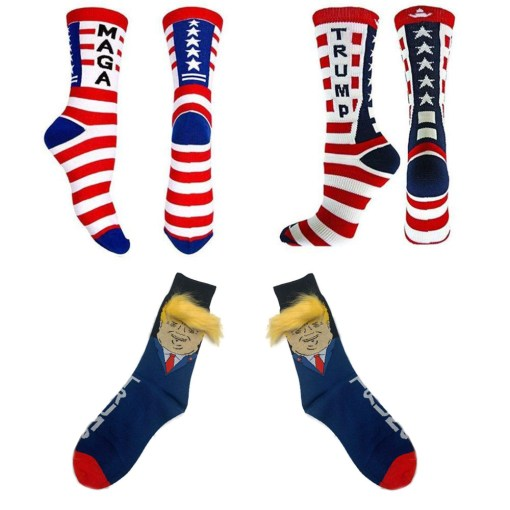 3 Pairs Trump Socks 2020 Republican GOP Election Voting Socks Trump Hair Socks Funny Socks MAGA Socks for Adult Men Women Collection Gift