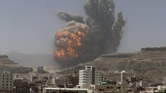 Most powerful explosions in Saudi-led airstrike campaign on Yemen ...